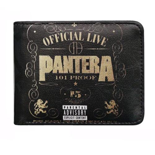 Black Pantera Band Music Heavy Metal No 5 Leather Slim Wallet Card Holder Gift