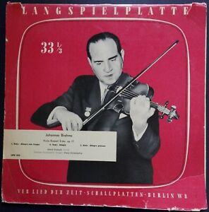 Brahms - Violin Concerto, OISTRAKH, KONWITSCHNY, Eterna, Lied der Zeit MONO