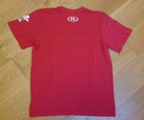 Under Armour Kids Boys girls Wales Welsh WRU Graphic T Shirt Short Sleeve Tee