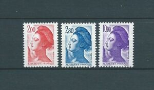 TYPE-LIBERTE-DELACROIX-1983-YT-2274-a-2276-TIMBRES-NEUFS-MNH-LUXE