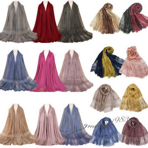 Muslim-Women-Long-Scarf-Shawl-Stole-Hijab-India-Wrap-Scarves-Cotton-Headscarf