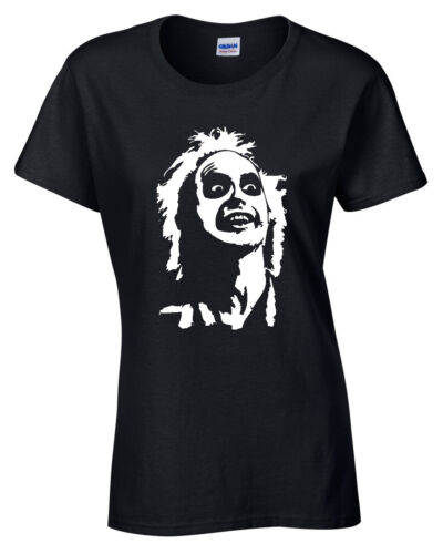Beetlejuice Face Womens Ladies T Shirt S-5XL retro tee gift present