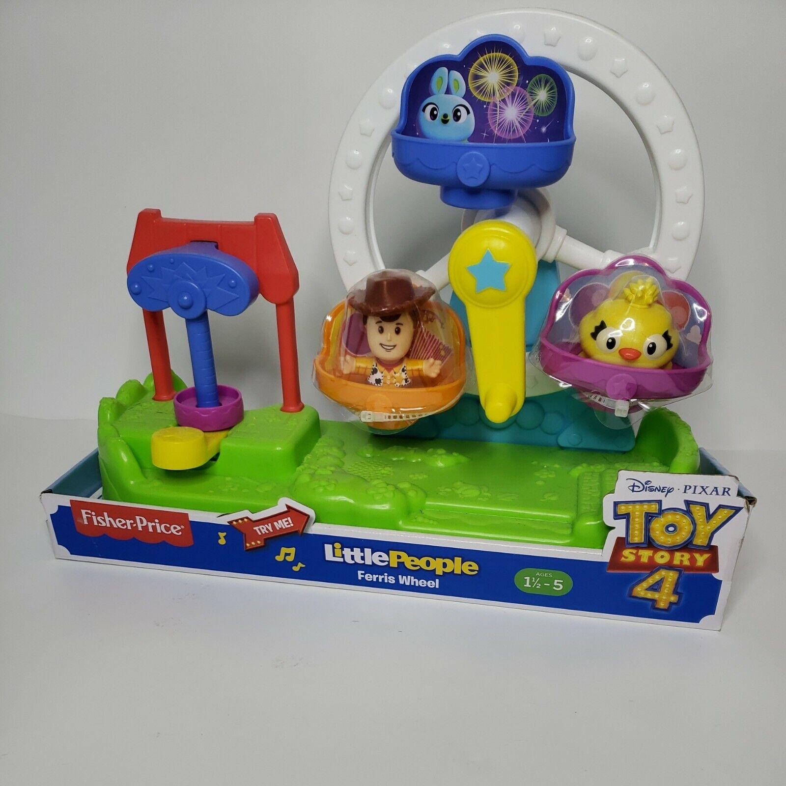 NEW Disney Pixar Fisher Price Little People Toy Story 4 Ferris Wheel Woody NIB