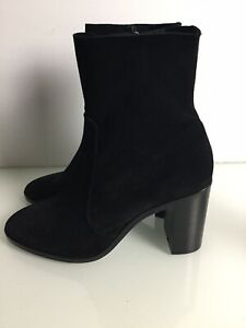 NEW River Island Black Suede Ankle