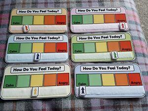 Comment vous sentez aujourd'hui? Monitoring plan DMPS Autisme TDAH Coloré petit tableau  </span>