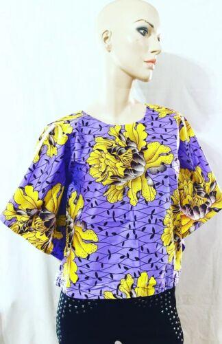 African print//Ankara Fabric Batwing Blouse//top