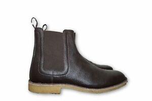 41eedbce4a8 Details about Bottega Veneta Leather Chelsea Boot Brown Espresso Mens