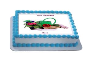 Novedad Personalizado jardinería escena (C) A4 Comestibles Icing Pastel Topper Cumpleaños  </span>