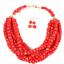 Women-Bohemian-Choker-Chunk-Crystal-Statement-Necklace-Wedding-Jewelry-Set thumbnail 132