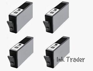 Details about 4x HP 364XL Black Compatible Printer Ink Cartridges for  Deskjet 3520