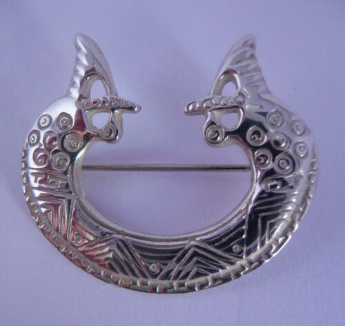 Ola Gorie Plata Broche st Ninian Vikingo Caballito de Mar Shetland 1975 Escocés