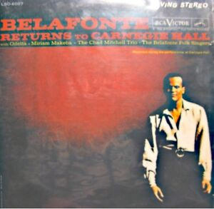 HARRY-BELAFONTE-returns-to-carnegie-hall-LIVE-2LP-039-S-1960-RCA-odetta-makeba-VG