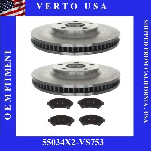 Front Brake Kit Rotors & Pads For Cadillac Seville 1998-2002 , 55034X2-VS753