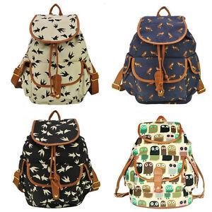 Cute Fashion Women's Canvas Travel Satchel Shoulder Bag ...