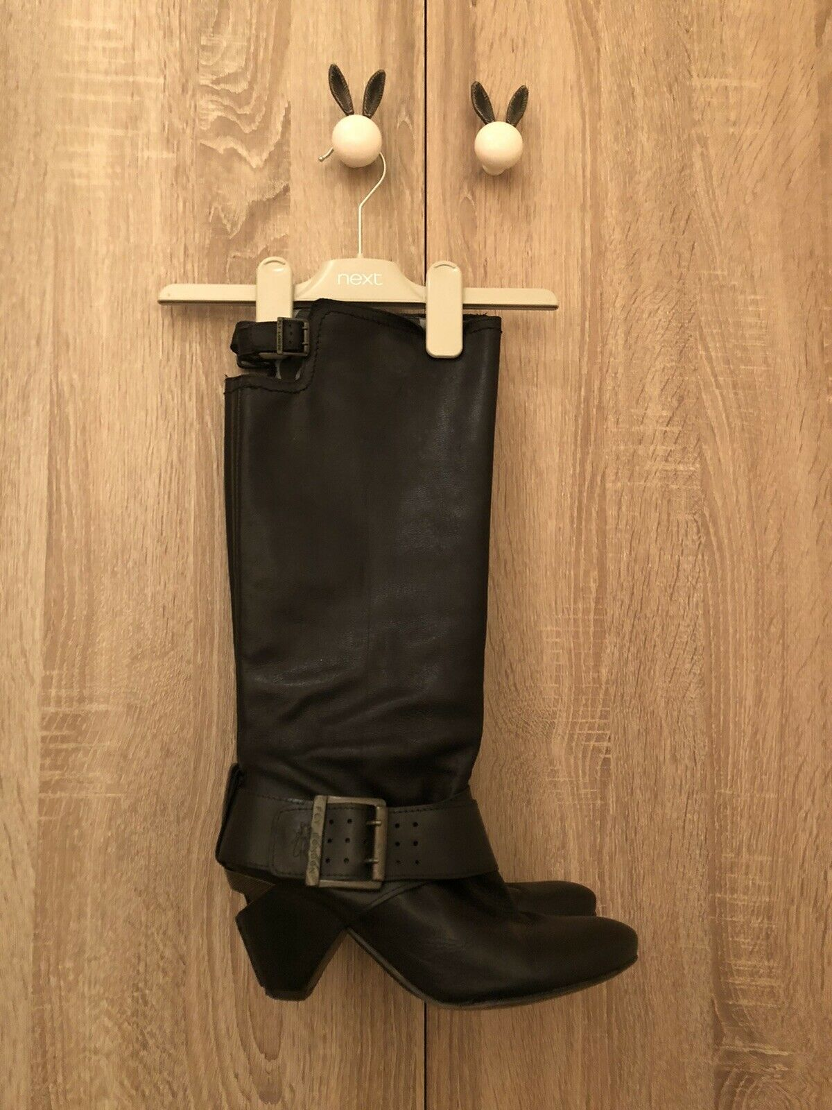 FLY LONDON Black Leather Boots UK 4 EUR 37 RRP 💞