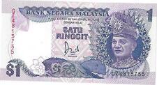 Banknotes Malaysia 1986 1 Ringgit P27a UNC Prefix GZ