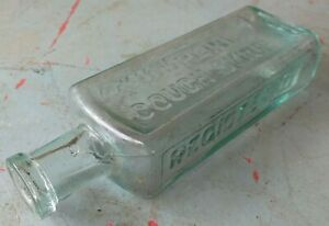 Collectable-Vintage-T-Robert-039-s-Groupline-Cough-Syrup-Bottle