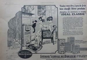 page-de-publicite-RADIATEURS-IDEAL-CLASSIC-avec-CHAT-en-1921-ref-70853
