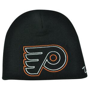 NHL-Zephyr-Philadelphia-Flyers-X-Ray-Cuffless-Beanie-Knit-Toque-Skully-Hat-Black