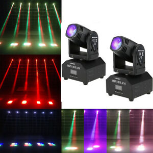 Details about 2pcs Lixada 60W LED Moving Head Disco Stage Lamp 11/13 CH  RGBW Beam Light K2H7