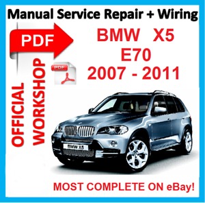 factory workshop manual service repair for bmw x5 e70 2007 2008 2009 rh ebay com bmw 135i factory service manual bmw factory service manual e46