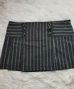 051dfb666dd5 ZARA TRF WOMEN'S BUTTON FRONT MINI SKIRT SIZE JUNIORS 6 Gray White ...