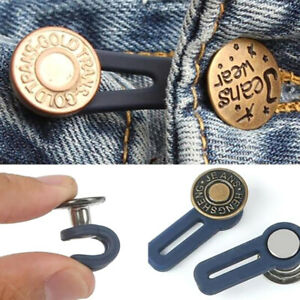 Adjustable-Disassembly-Retractable-Jeans-Waist-Extension-Button-Increase-Wais-GN