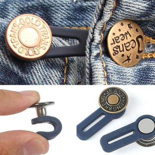 Adjustable Disassembly Retractable Jeans Waist Extension Button Increase Wais LU