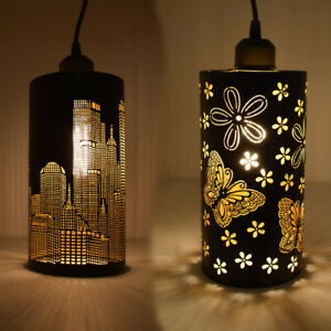 MODERN-CEILING-CHANDELIER-Fabric-Ceiling-Light-Pendant-Shade-Lampshade-drum
