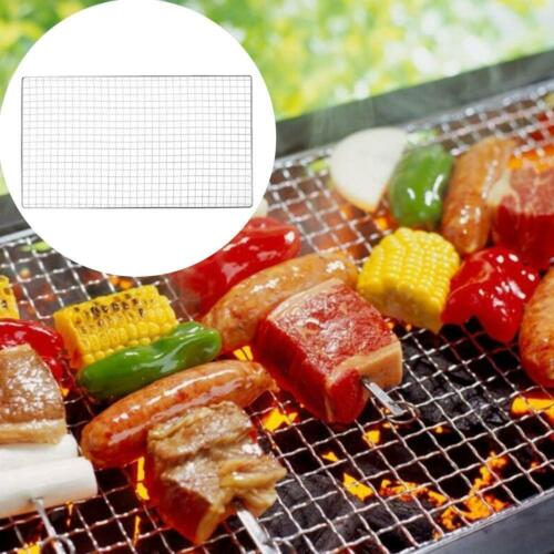 Outdoor Stainless Steel BBQ Barbecue Grill Grilling Mesh Wire Net Cooking New