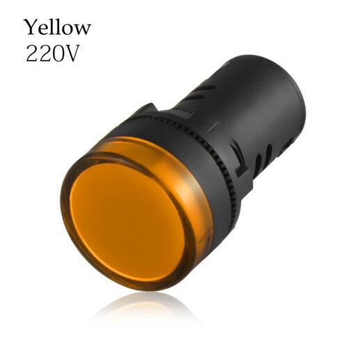 24V 110V 220V Power Indicador LED luz piloto Lampara de señal Panel Mount 22mm