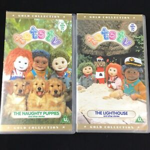 Tots-TV-Gold-Collection-VHS-Tapes-The-Lighthouse-amp-The-Naughty-Puppies