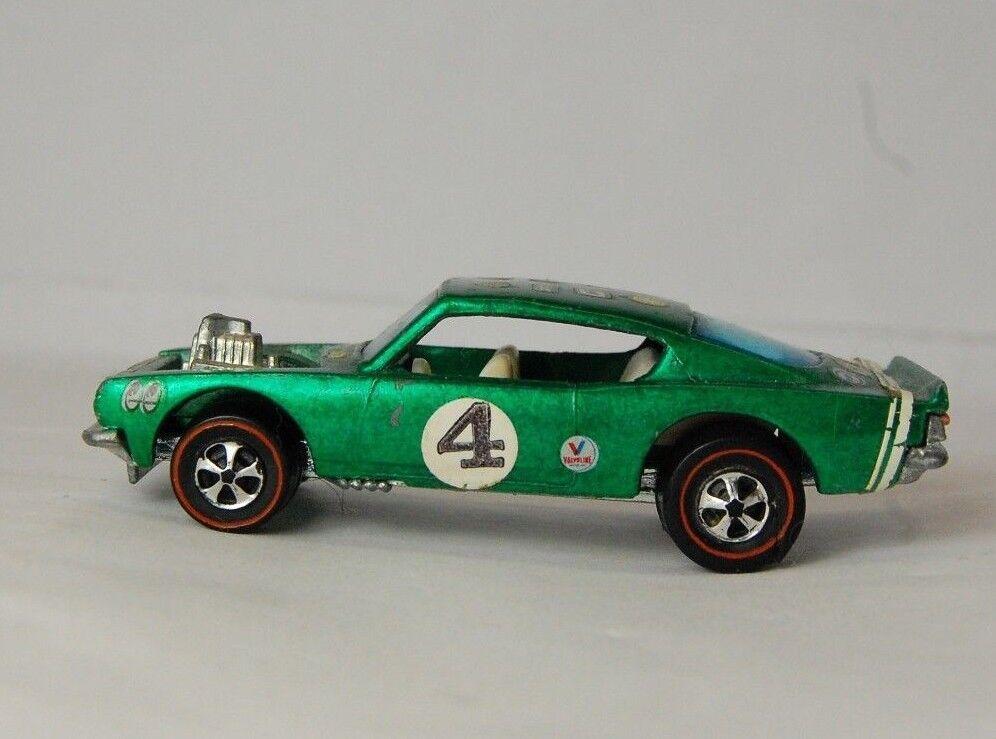 nuevo sádico Hot Wheels rojoline Rey Kuda verde, los alerones alerones alerones (forma Fantástica) 1970  el precio más bajo
