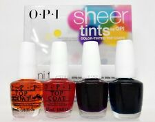 OPI - SHEER TINTS MINI - Color-Tinted Top Coat - 4 Shades 1/8oz - NT S01 - S04