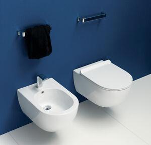 Wc app sospeso completo di sedile termoindurente ceramica flaminia ebay - Flaminia sanitari bagno ...