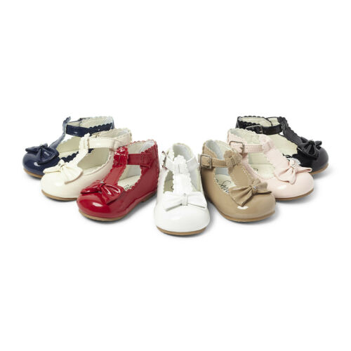 Girls T Bar Bow Diamante Shoes Sevva Rollybaby Italian Style Occasion Toddler
