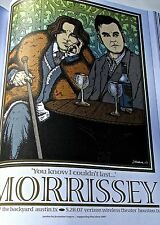Morrissey Mini-Poster Reprint For Concert in Houston Tx 2007-14x10 Unsigned
