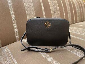 NWT-Tory-Burch-Logo-Round-Cross-body-Leather-Bag