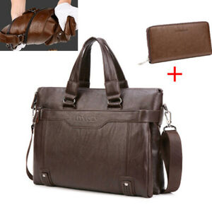 d7e4dcdef9cb Image is loading US-Men-Soft-PU-Leather-Briefcase-Messenger-Laptop-