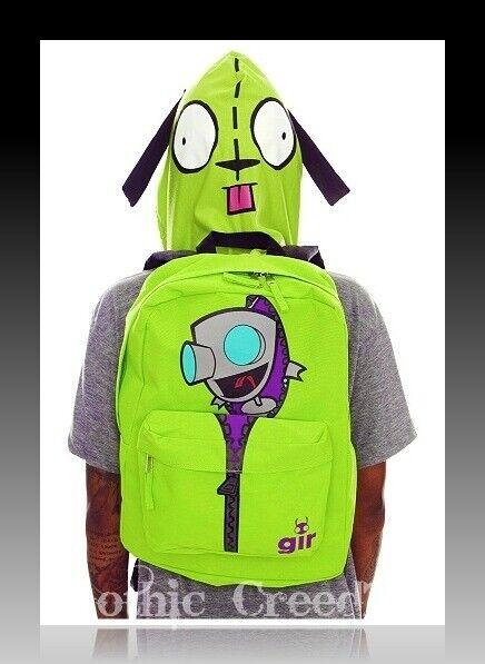 INVADER ZIM Gir Robot Retirot 2011 VERY RARE  Dog Ears Hooded Backpack BRAND NEW
