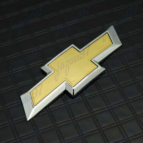 New For 2016-18 Chevy Chevrolet Camaro Front Grille /&Rear Gold Bowtie Emblem Set