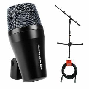Sennheiser-E902-Cardioid-Dynamic-Microphone-w-Tripod-Mic-Stand-amp-XLR-Cable