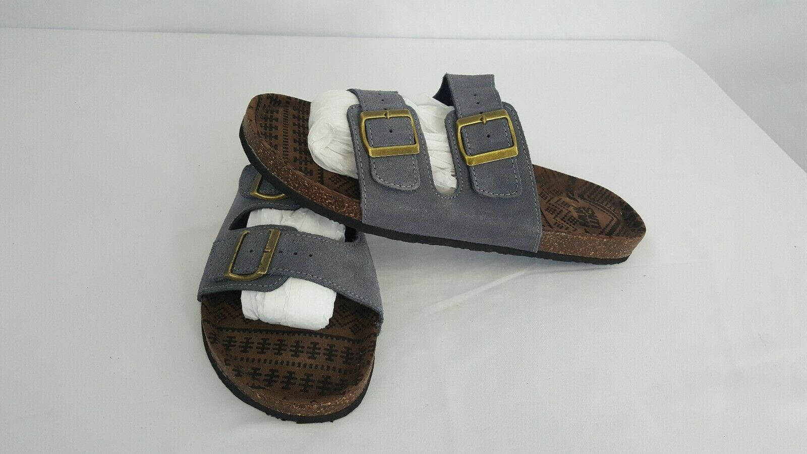 Muk Luks Parker Suede Leather Men's Sandals Slip On Duo Strapped Slip On