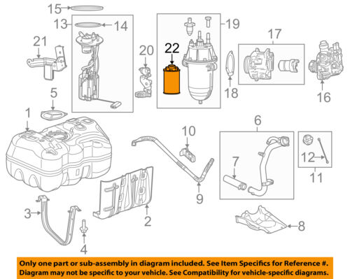 Ram CHRYSLER OEM 14-18 ProMaster 2500-Fuel Filter 68223662AA