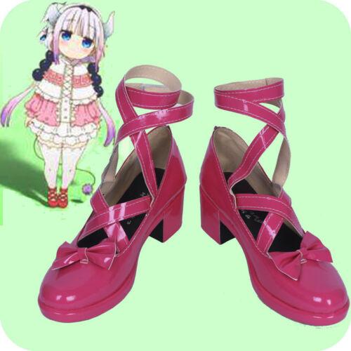 Anime Miss Kobayashi/'s Dragon Maid Kanna Kamui Cosplay Chaussures personnalisé