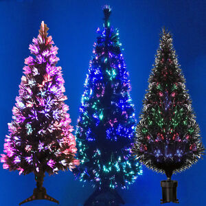 image is loading black fibre optic christmas tree colour changing 2ft