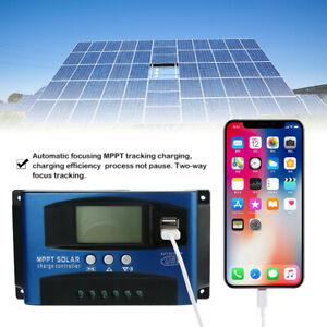 Aufladen-Regler-Laderegler-MPPT-Solar-Panel-Regulator-40A-USB-Solarregler-LCD