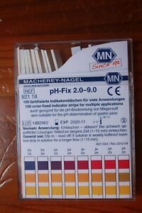 pH-fix-2-0-9-0-macherey-nagel-100-color-fixed-indicator-strips-ref-92118