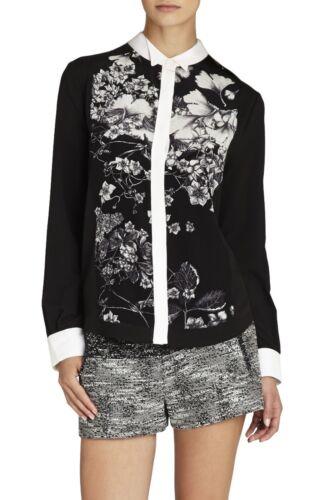 887398349511 Max print Azria shirt maat met Keline Nieuw Bcbg tuxedo XS Ewi1q508s77 zijden kXiPTOuwZ
