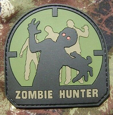ZOMBIE HUNTER PVC US ARMY TACTICAL MILSPEC FOREST VELCRO® BRAND FASTENER PATCH